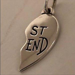 1/2 James Avery best friend heart charm